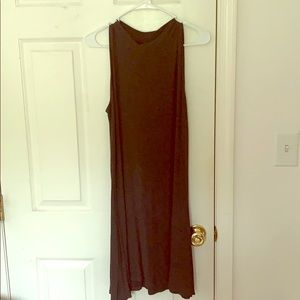 Charcoal stretchy dress